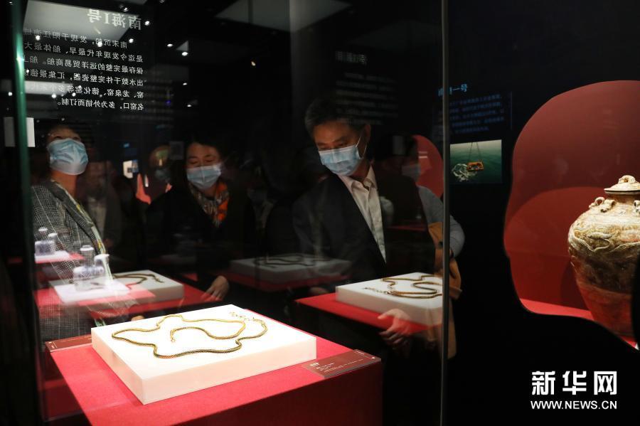 """""""中国古代海事文物展""""在中国海事博物馆开幕"""