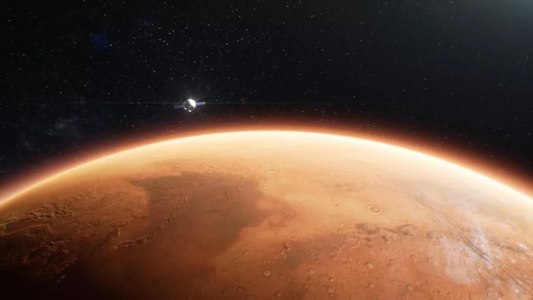 天问一号实施近火制动 进入火星停泊轨道